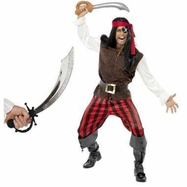 Verkleed piraten carnavalskleding heren maat l zwaard den bosch