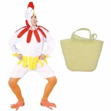 Witte paaskip carnavalskleding maat l ( ) mandje dames/heren den bosc