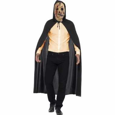 Zombie carnavalskleding cape rits masker