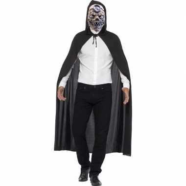Zombie dokter carnavalskleding cape masker