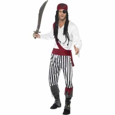 Zwart/wit piraten carnavalskleding heren den bosch