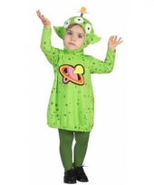 Alien jurkje verkleedcarnavalskledingvoor peuters
