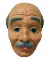 Carnavalskleding abraham masker kaal snor