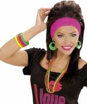 Carnavalskleding armbandjes neon kleurtjes