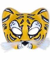 Carnavalskleding bengaalse tijger masker plastic