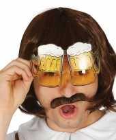 Carnavalskleding bierglazen partybril 10152489