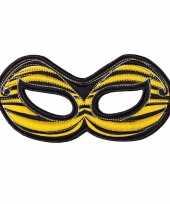 Carnavalskleding bijen oogmasker geel kinderen