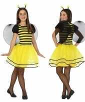 Carnavalskleding bijen verkleedjurkje kinderen