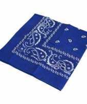 Carnavalskleding blauwe boeren zakdoeken