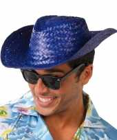 Carnavalskleding blauwe cowboyhoed toppers volwassenen