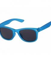 Carnavalskleding blauwe jongens zonnebril model