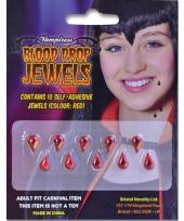 Carnavalskleding bloeddruppel juwelen stuks