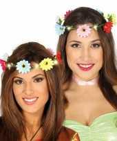 Carnavalskleding bloemen haarkrans verlichting dames