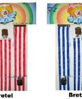 Carnavalskleding bretels strepen