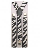 Carnavalskleding bretels zebra print 10044258