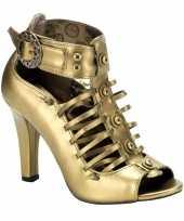 Carnavalskleding bronzen demonia pumps dames