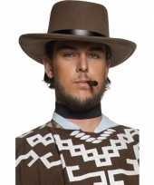 Carnavalskleding bruine cowboyhoed heren