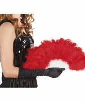 Carnavalskleding burlesque waaiers rood