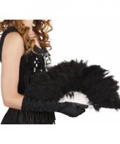 Carnavalskleding burlesque waaiers zwart