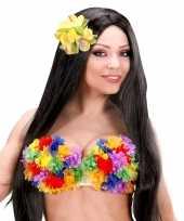 Carnavalskleding bustehouder bloemetjes