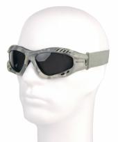 Carnavalskleding camouflage tactical rubber zonnebril