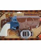 Carnavalskleding carbaval cowboy pistool blauw