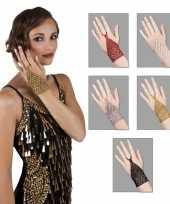 Carnavalskleding charleston sieraden kralen handsieraad