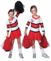 Carnavalskleding cheerleader jurkje plooirok meiden