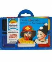 Carnavalskleding clown schminken schminkset
