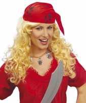 Carnavalskleding dames pruik hoofdband