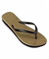 Carnavalskleding dames slippers goud