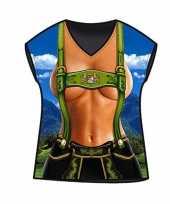 Carnavalskleding dames t-shirt alpen print