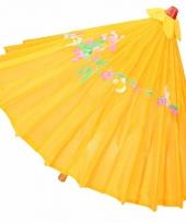 Carnavalskleding decoratie parasol china donker oranje