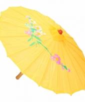 Carnavalskleding decoratie parasol china geel