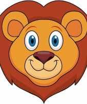 Carnavalskleding dieren masker leeuw kids