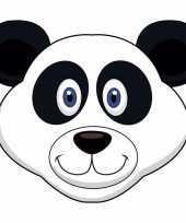 Carnavalskleding dieren masker pandabeer kids