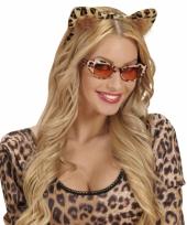 Carnavalskleding dieren oren diadeem luipaard
