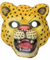 Carnavalskleding dierenmasker verkleed panter kinderen