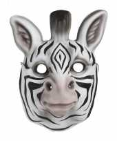 Carnavalskleding dierenmasker zebra kinderen