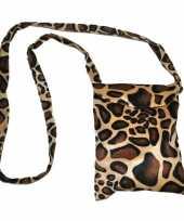 Carnavalskleding dierenprint tas giraffe