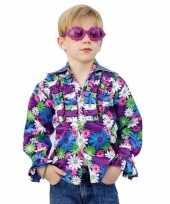 Carnavalskleding disco blouse kinderen