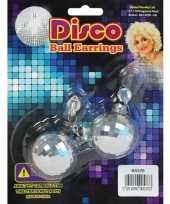 Carnavalskleding disco fever oorbellen