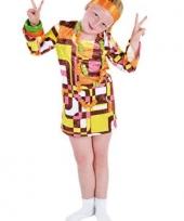 Carnavalskleding disco kinder jurkje