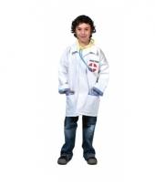 Carnavalskleding doktersjas kind stethoscoop