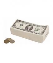 Carnavalskleding dollar biljetten spaarvarken