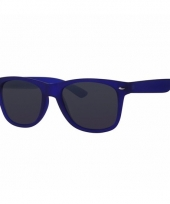 Carnavalskleding donkerblauwe zonnebrillen kinderen