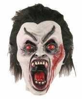 Carnavalskleding dracula horror halloween masker latex