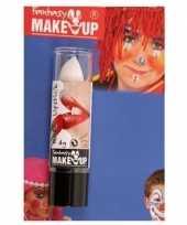 Carnavalskleding feest party lipstick lippenstift mat wit 10155616