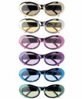 Carnavalskleding feestbril diverse kleuren