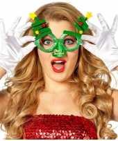 Carnavalskleding feestbril kerstbomen volwassenen